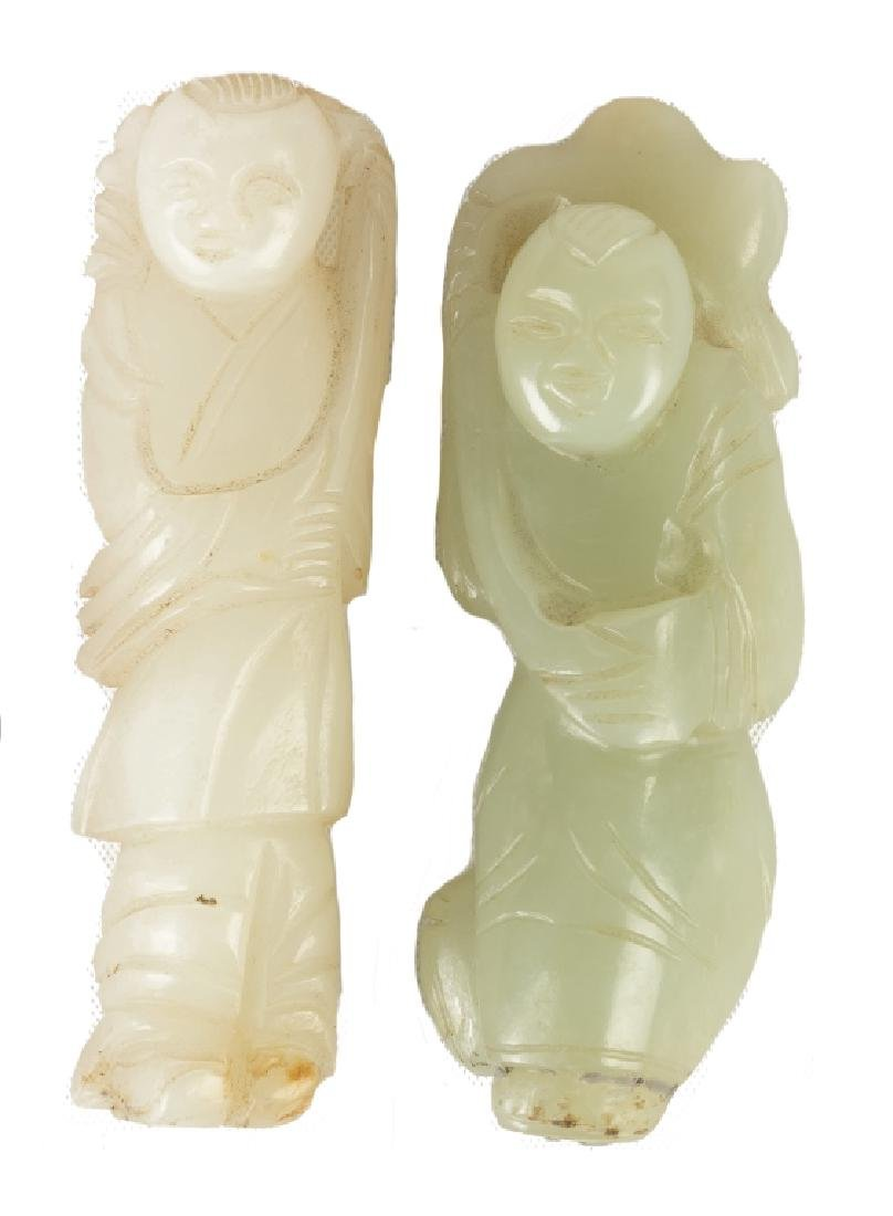 Chinese Carved Jade Court Figures