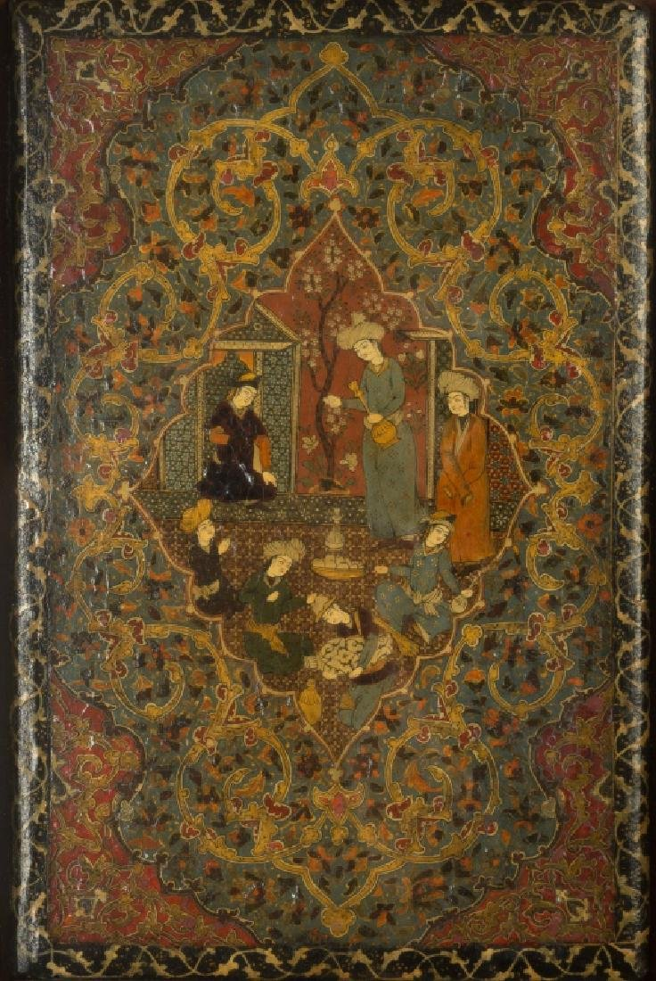Persian Painted and Lacquered Book Covers
