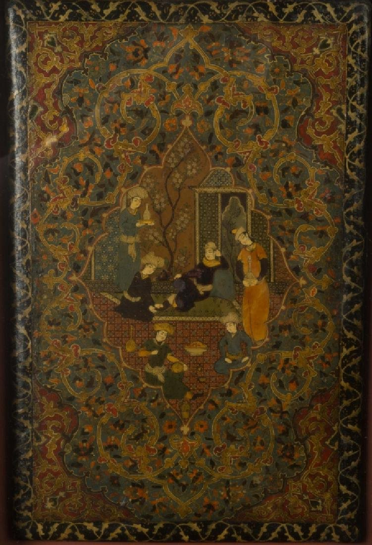 Persian Painted and Lacquered Book Covers - 2