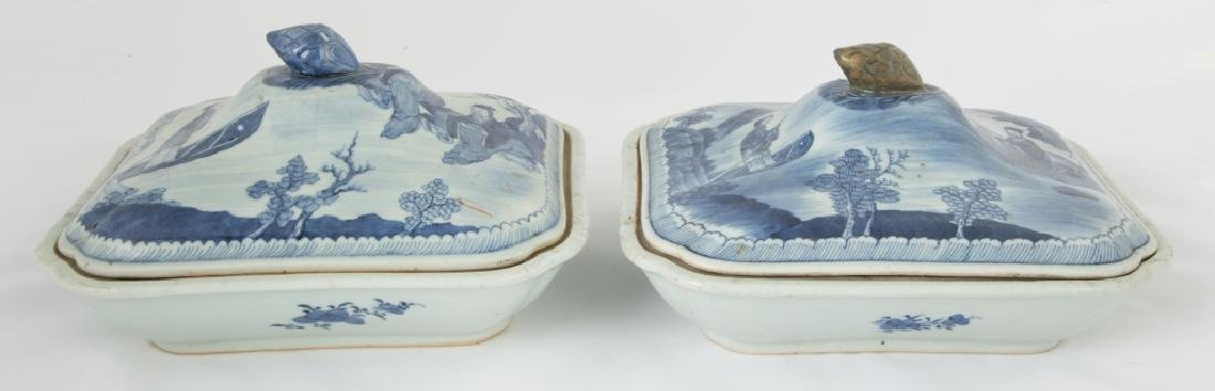 Chinese Export Canton Covered Serving Pieces