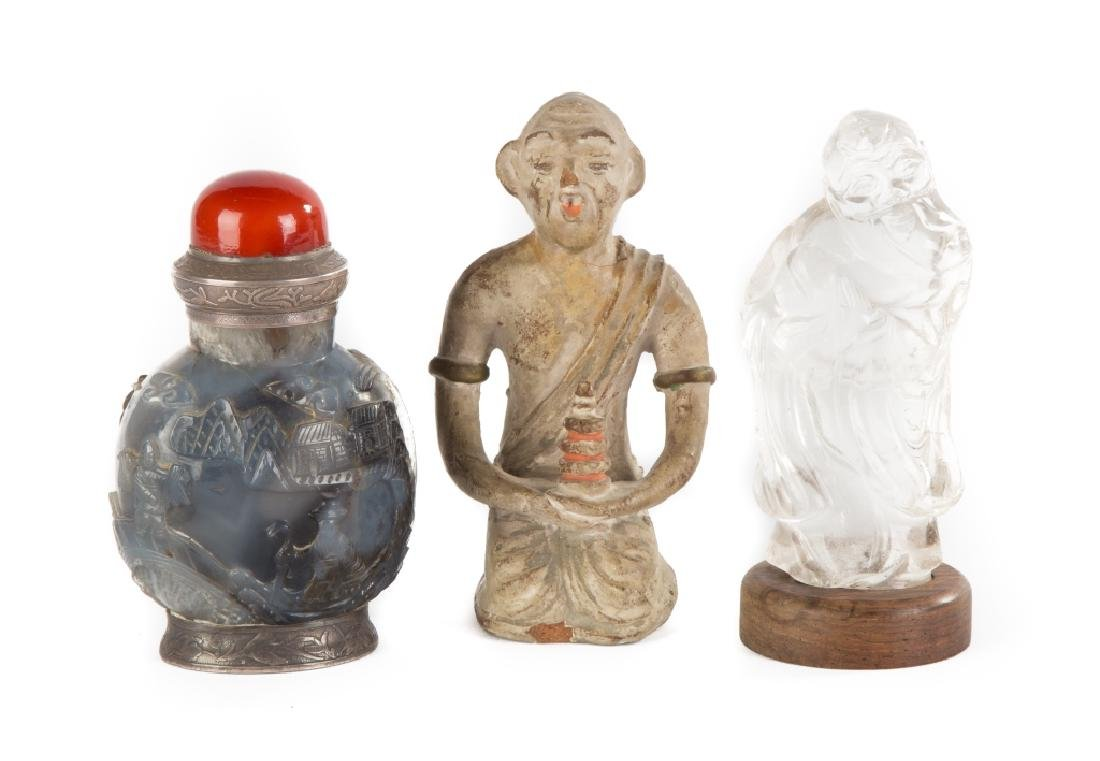 Asian Snuff Bottle & Figures