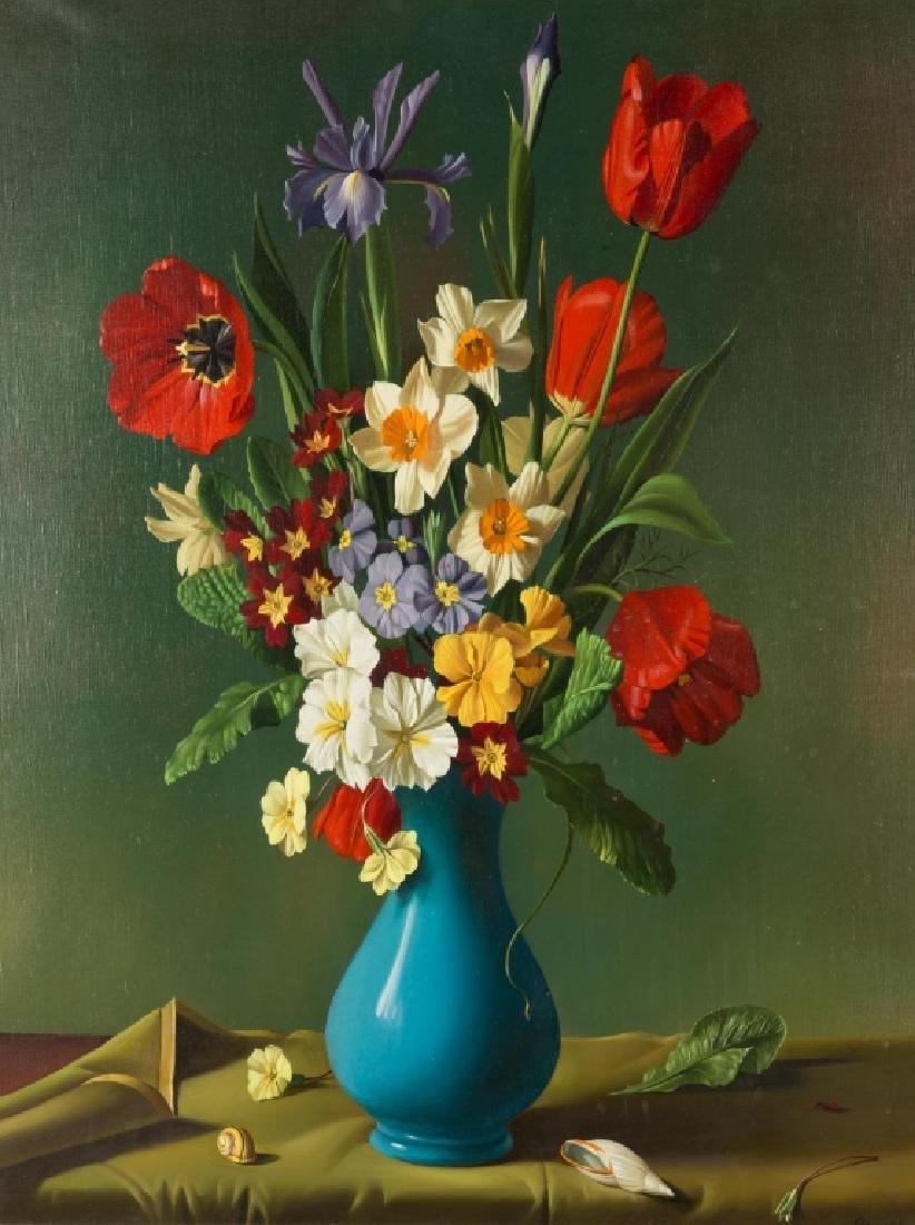 """Fernand Renard (French, born 1912) """"Fleurs du Vase - 2"""