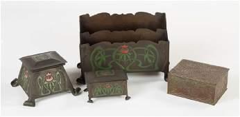 Tiffany Box  The Art Crafts Shop Buffalo NY Desk Set
