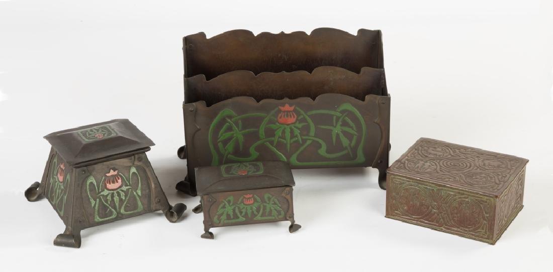 Tiffany Box & The Art Crafts Shop, Buffalo, NY Desk Set
