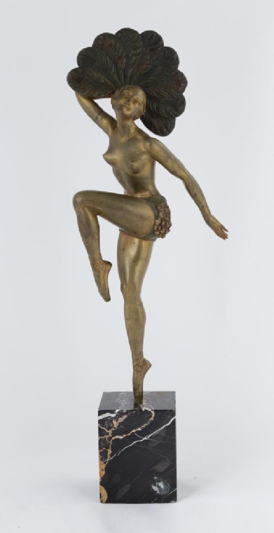 Charles Henri Mollins (French) Fan Dancer