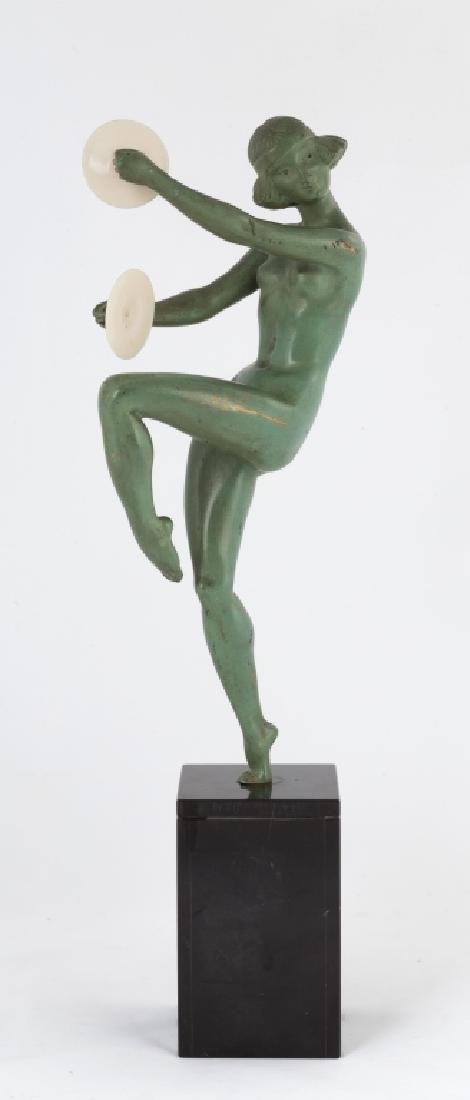 Bronze Sculpture of a Cymbal Player