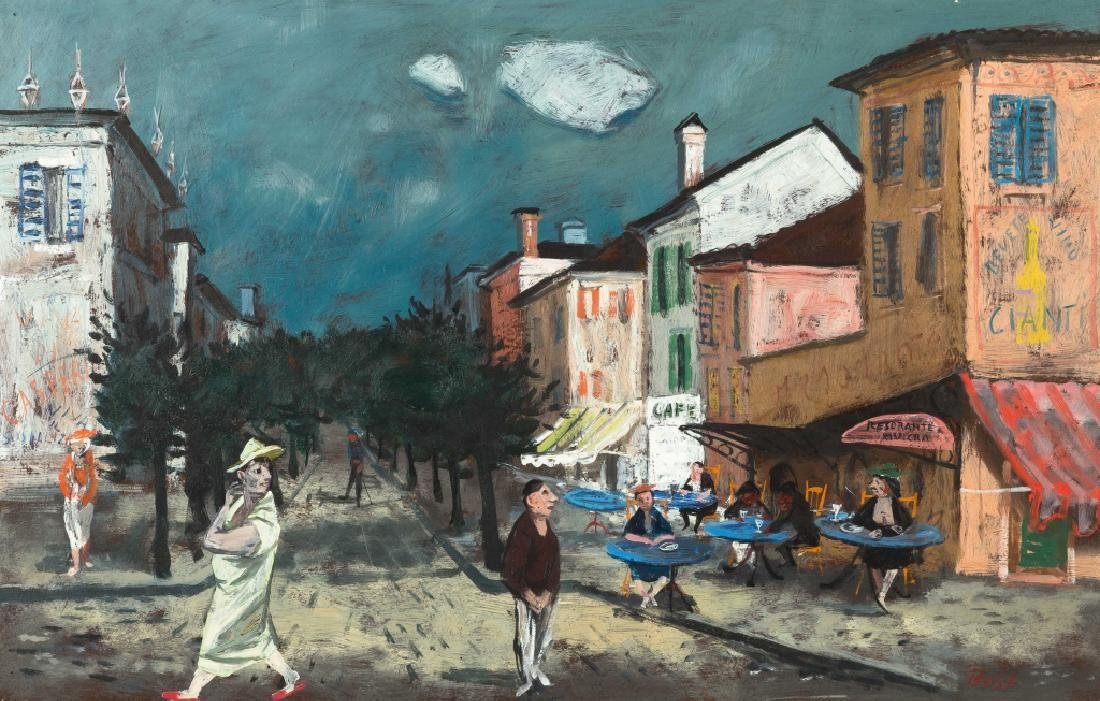 Louis Bosa (Italian, 1905-1981) Cafe Picollo - 2