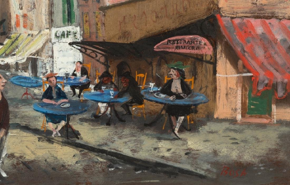 Louis Bosa (Italian, 1905-1981) Cafe Picollo - 3