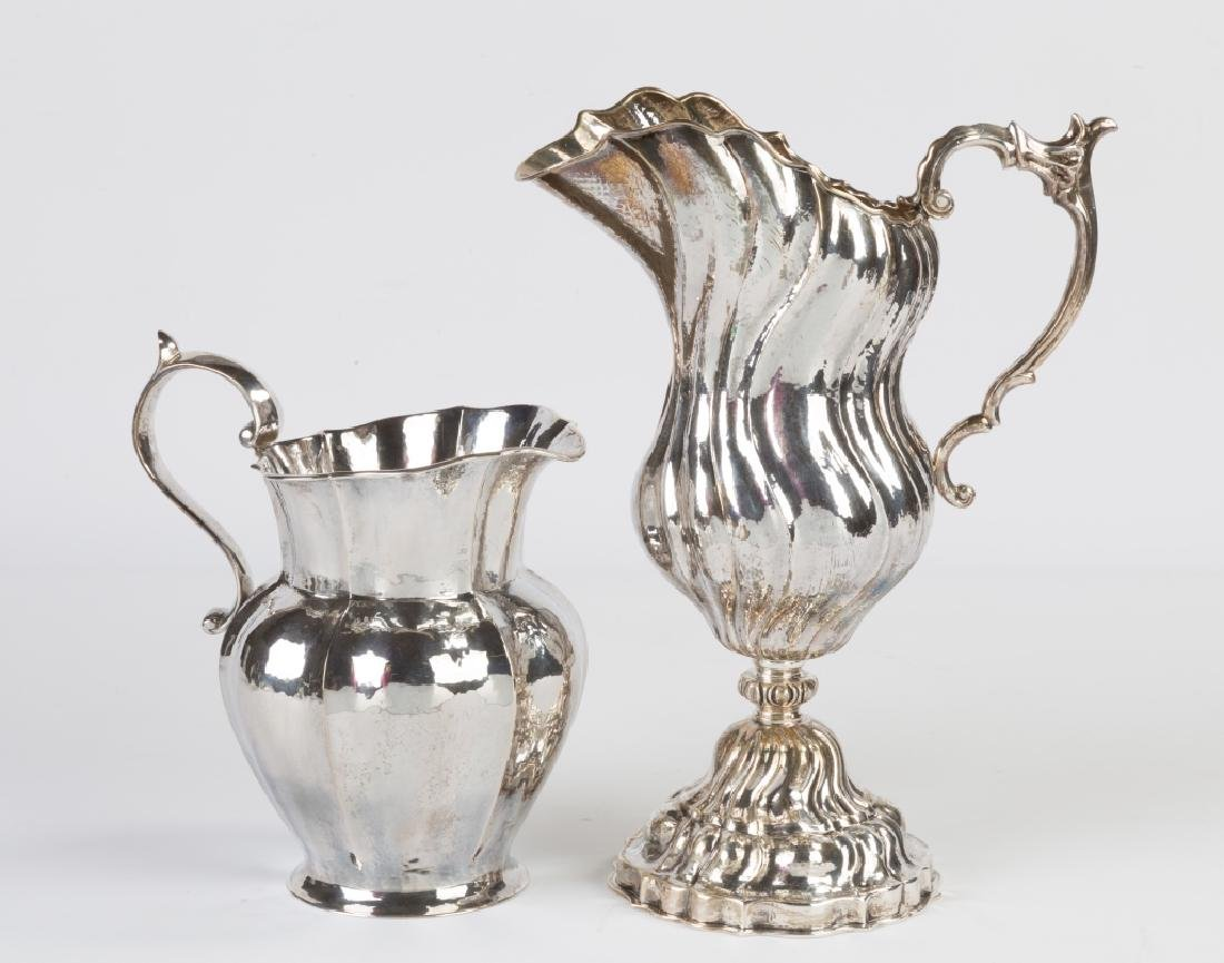 Two Buccellati Sterling Silver Pitchers
