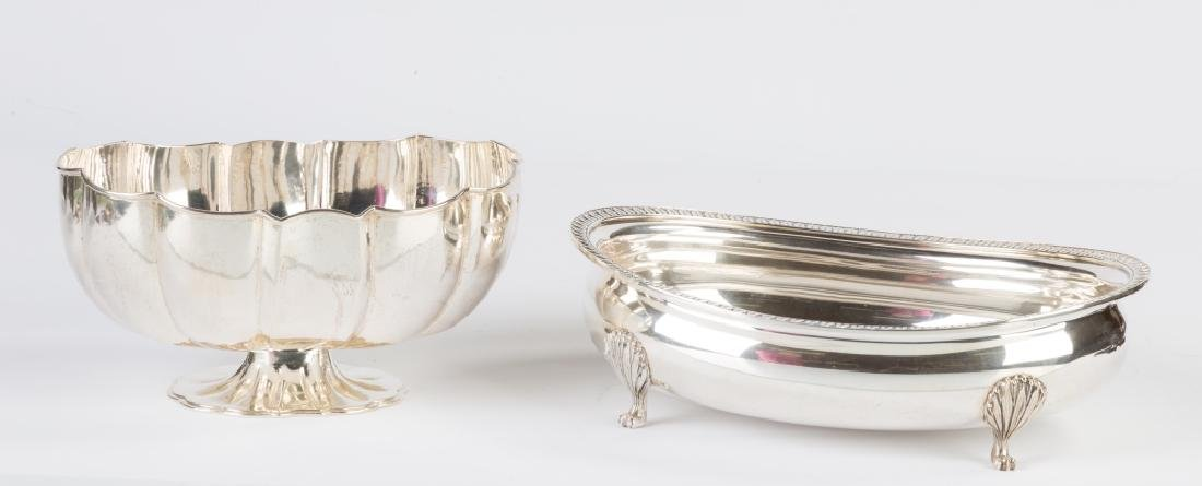 Two Buccellati Sterling Silver Footed Bowls