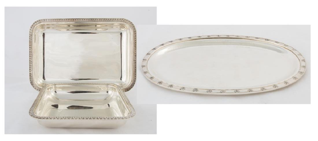 Three Buccellati Sterling Silver Trays