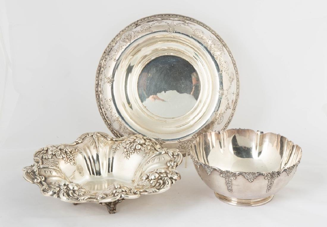Three Sterling Silver Bowls
