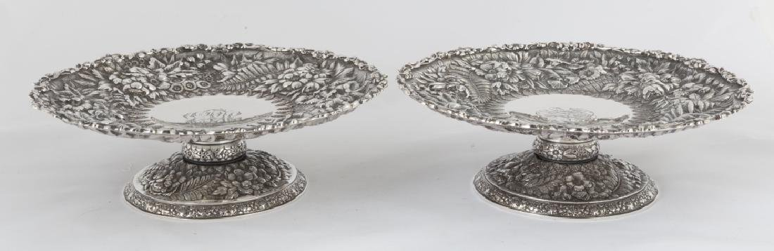 Pair of Tiffany & Co. Makers Sterling Silver Heavy