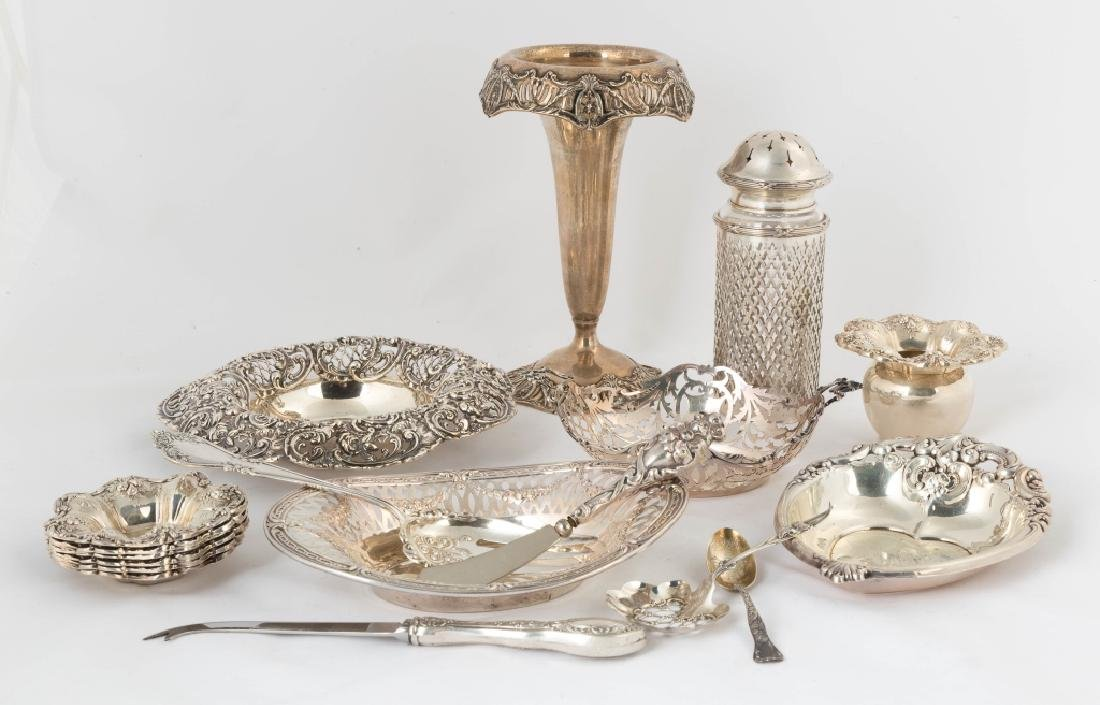Group of Sterling Silver Table Articles