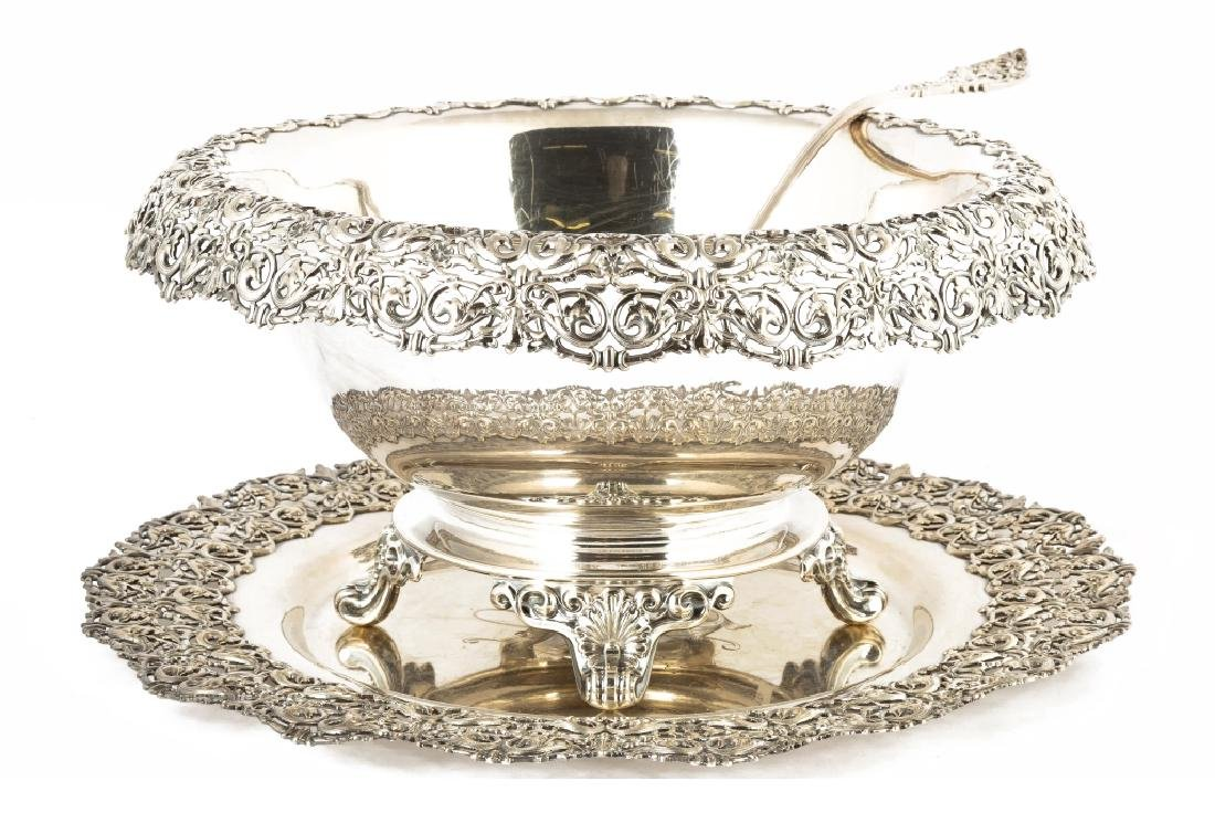 Dominick and Haff Sterling Silver Footed Punch Bowl,