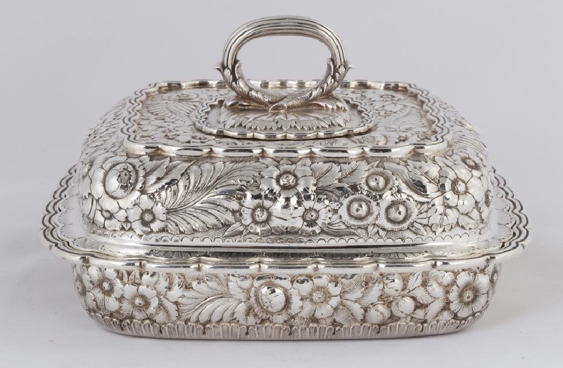 Tiffany & Co. Makers Sterling Silver Heavy Repousse