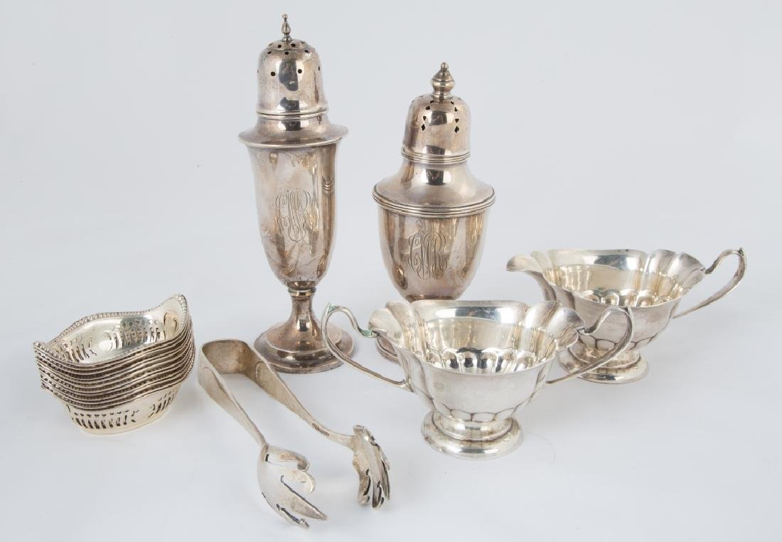 Group of Various Sterling Silver Table Articles