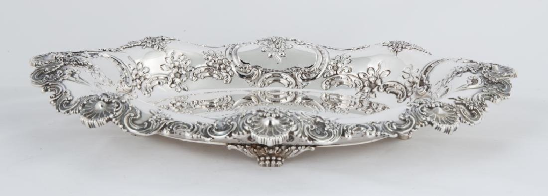 Tiffany & Co. Makers Sterling Silver Footed Tray with