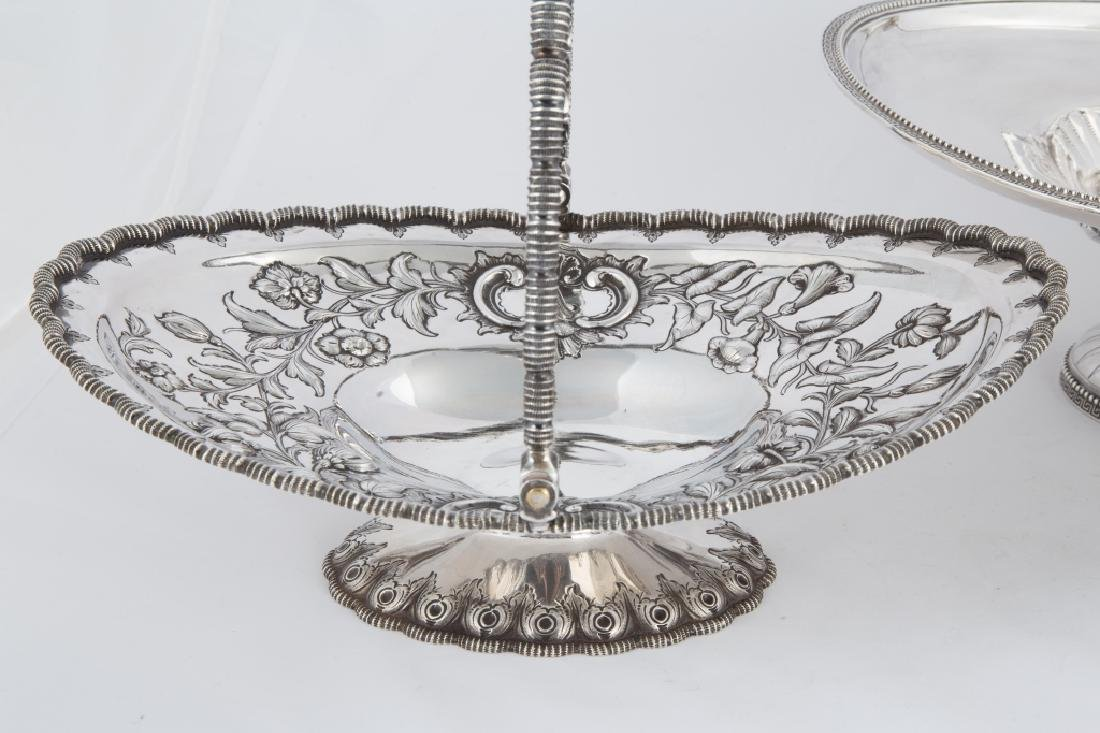 Tiffany & Co. Makers Sterling Silver Floral Repousse