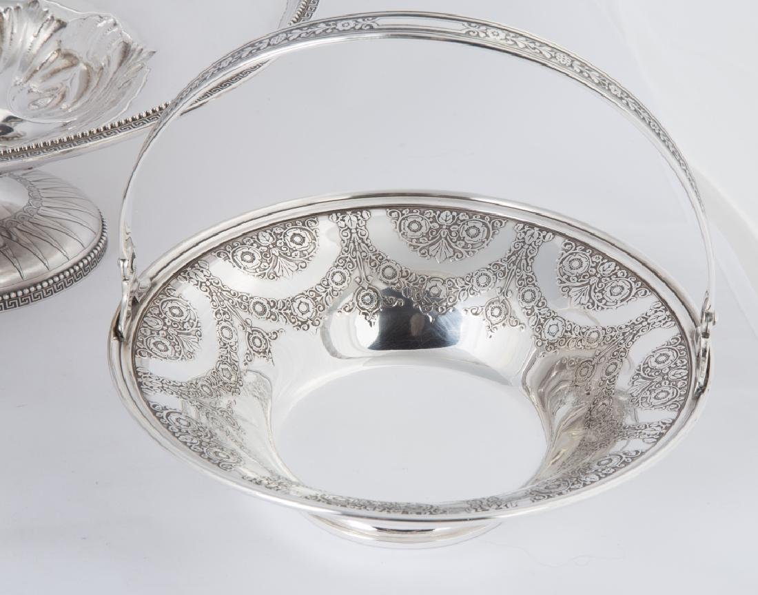Tiffany & Co. Makers Sterling Silver Handled Basket