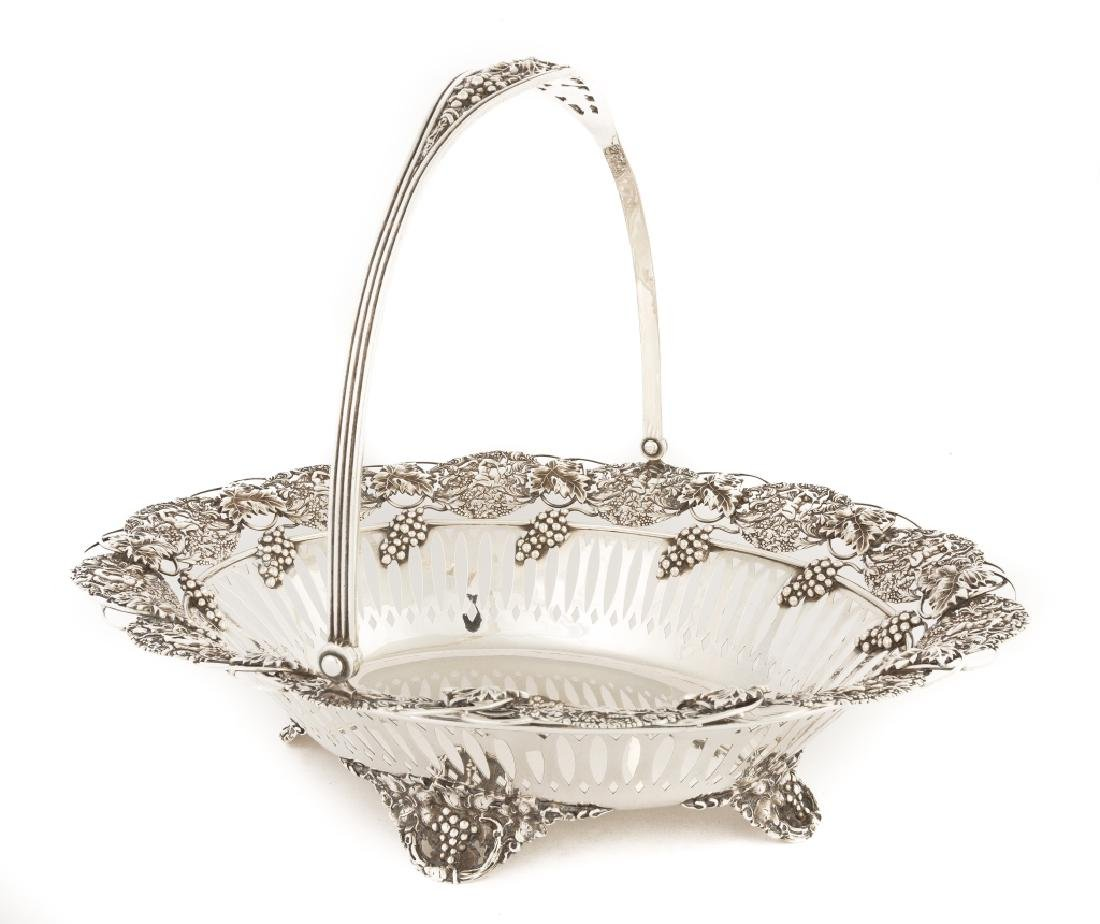 Sterling Silver Footed Cake Basket