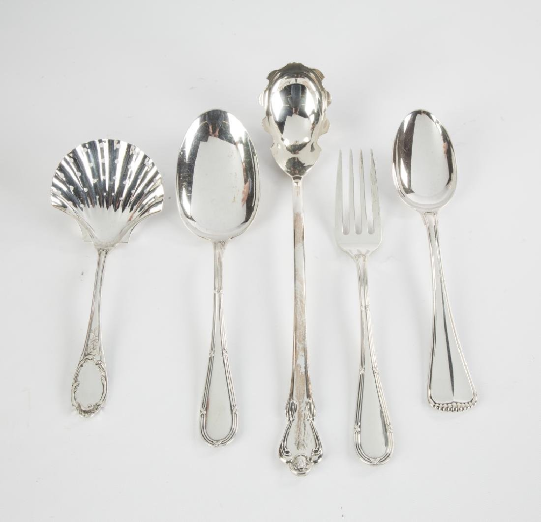 Five Sterling Silver Serving Pieces