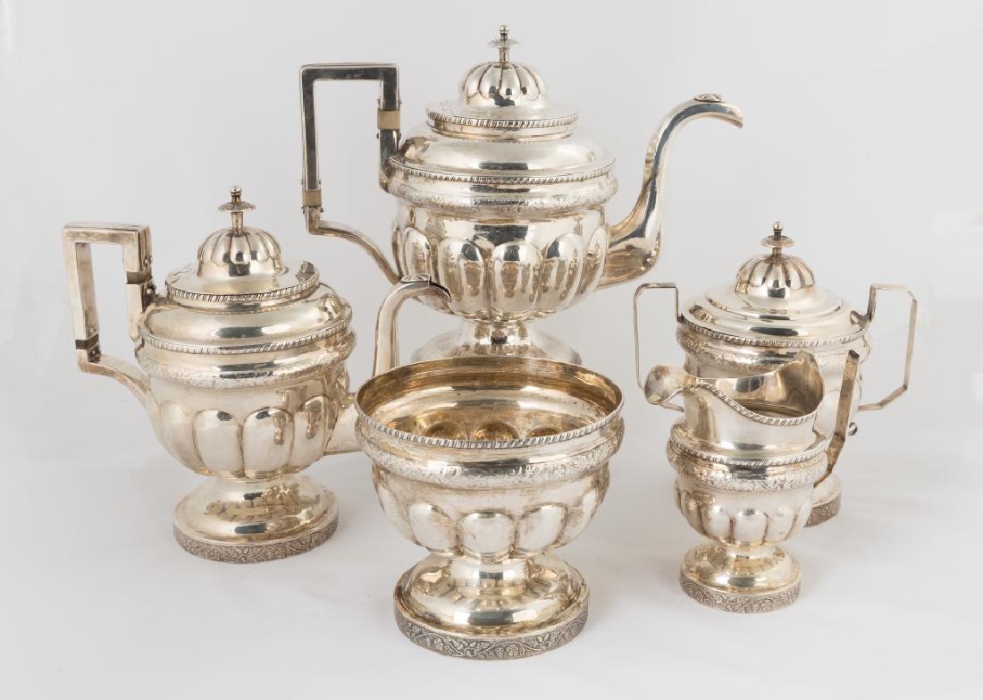 W. A. Lloyd, Philadelphia, Five Piece Sterling Silver