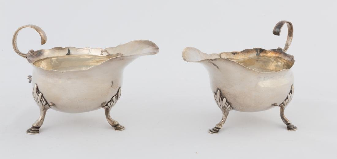 Pair of George Smith IV Sterling Silver Sauce Boats