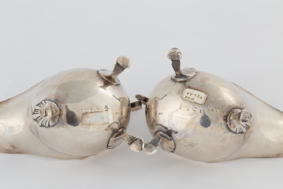 Pair of George Smith IV Sterling Silver Sauce Boats - 2
