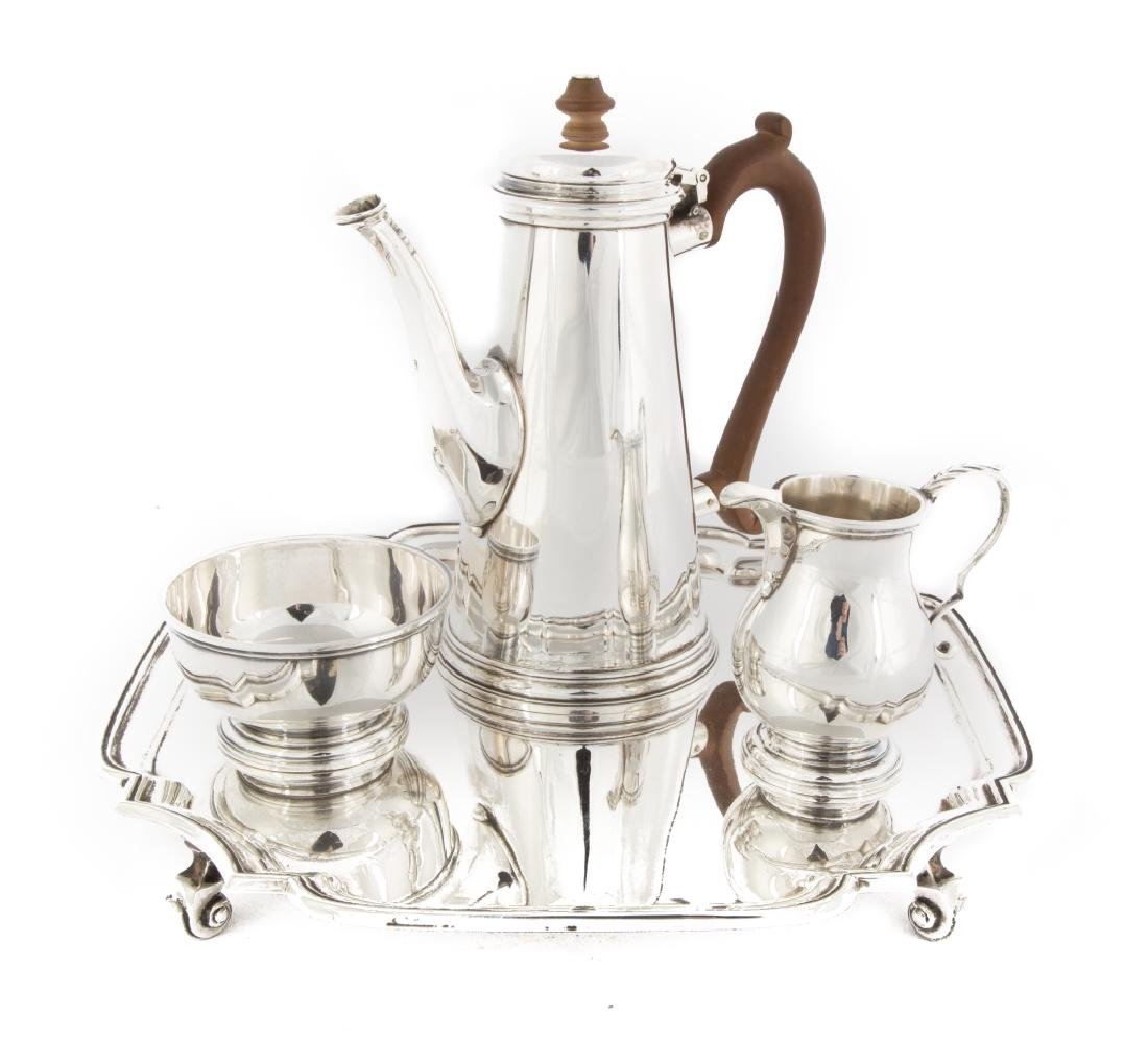 English Sterling Silver Four Piece Gentleman's Tea