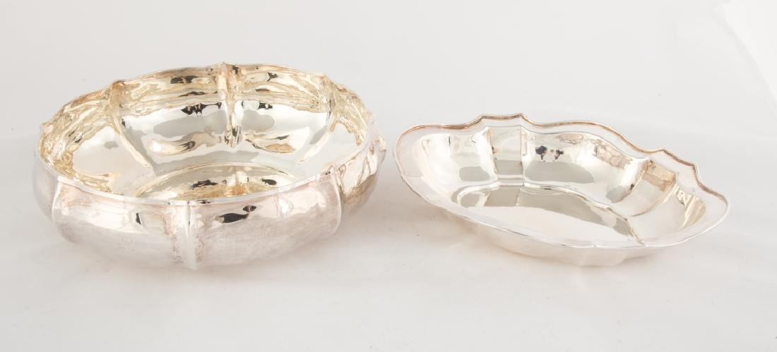 Two Sterling Silver Serving Bowls