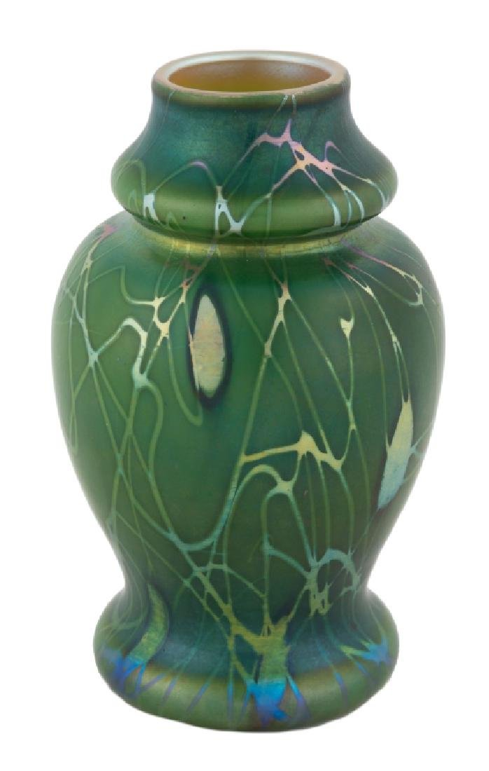Steuben Aurene Decorated Vase