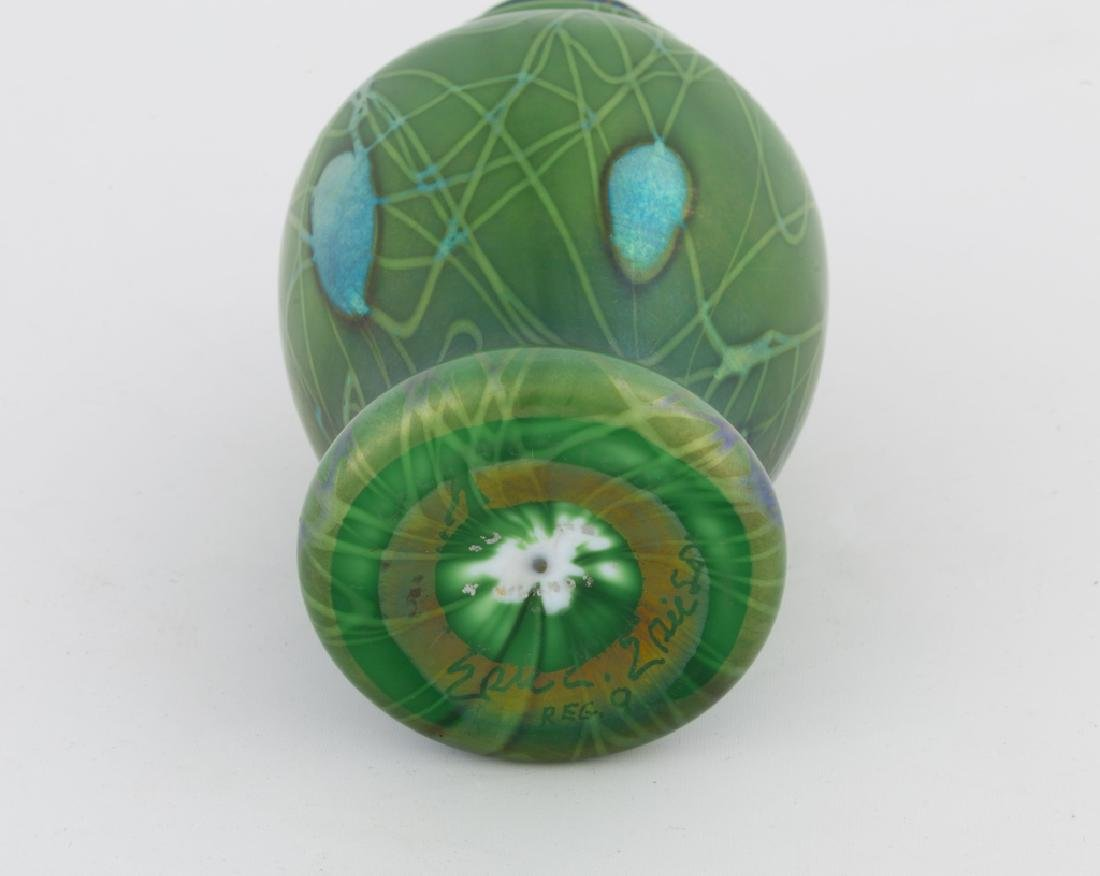 Steuben Aurene Decorated Vase - 3