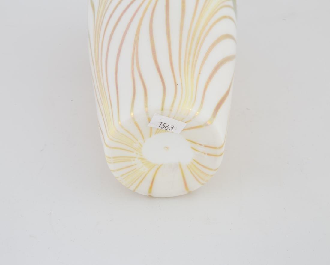 Steuben Aurene Pulled Feather Decorated Vase - 3