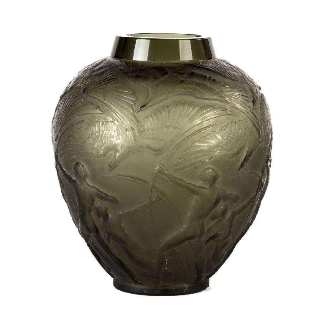 Lalique Archers Vase