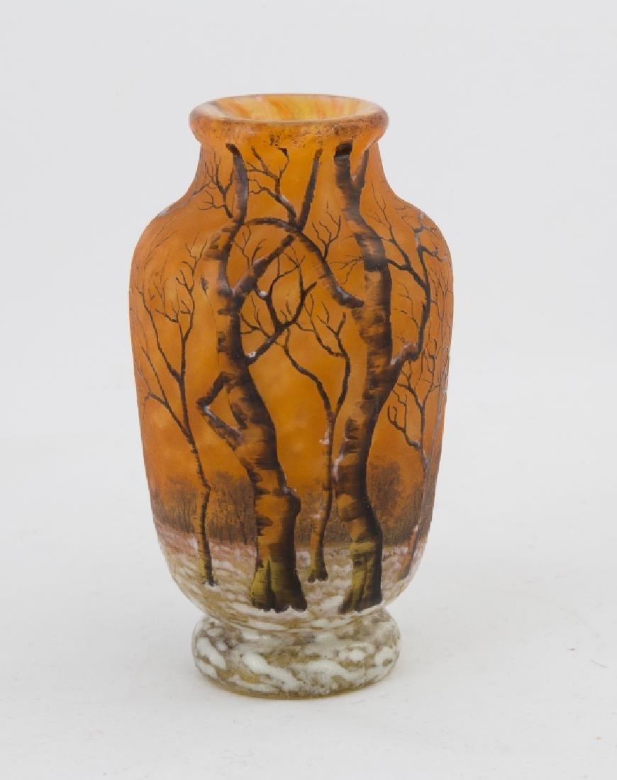 Daum Nancy Cabinet Vase with Winter Scene