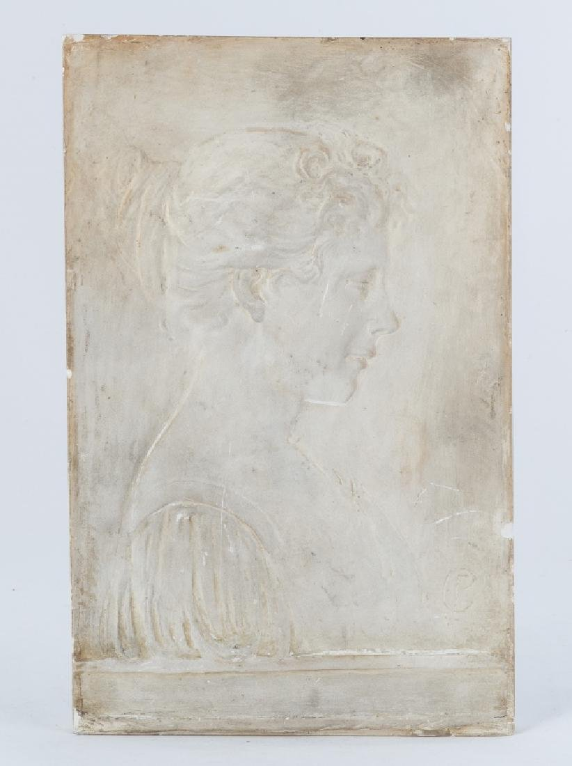 Plaster Cast of Mrs. Carder by Frederick Carder