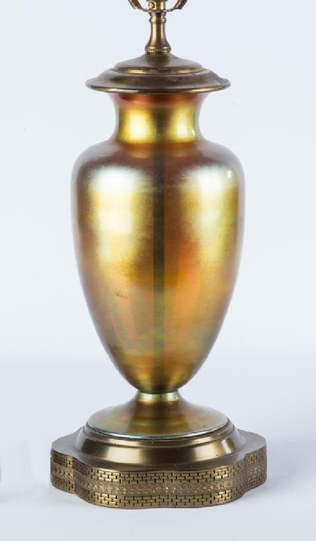 Steuben Aurene Lamp Base