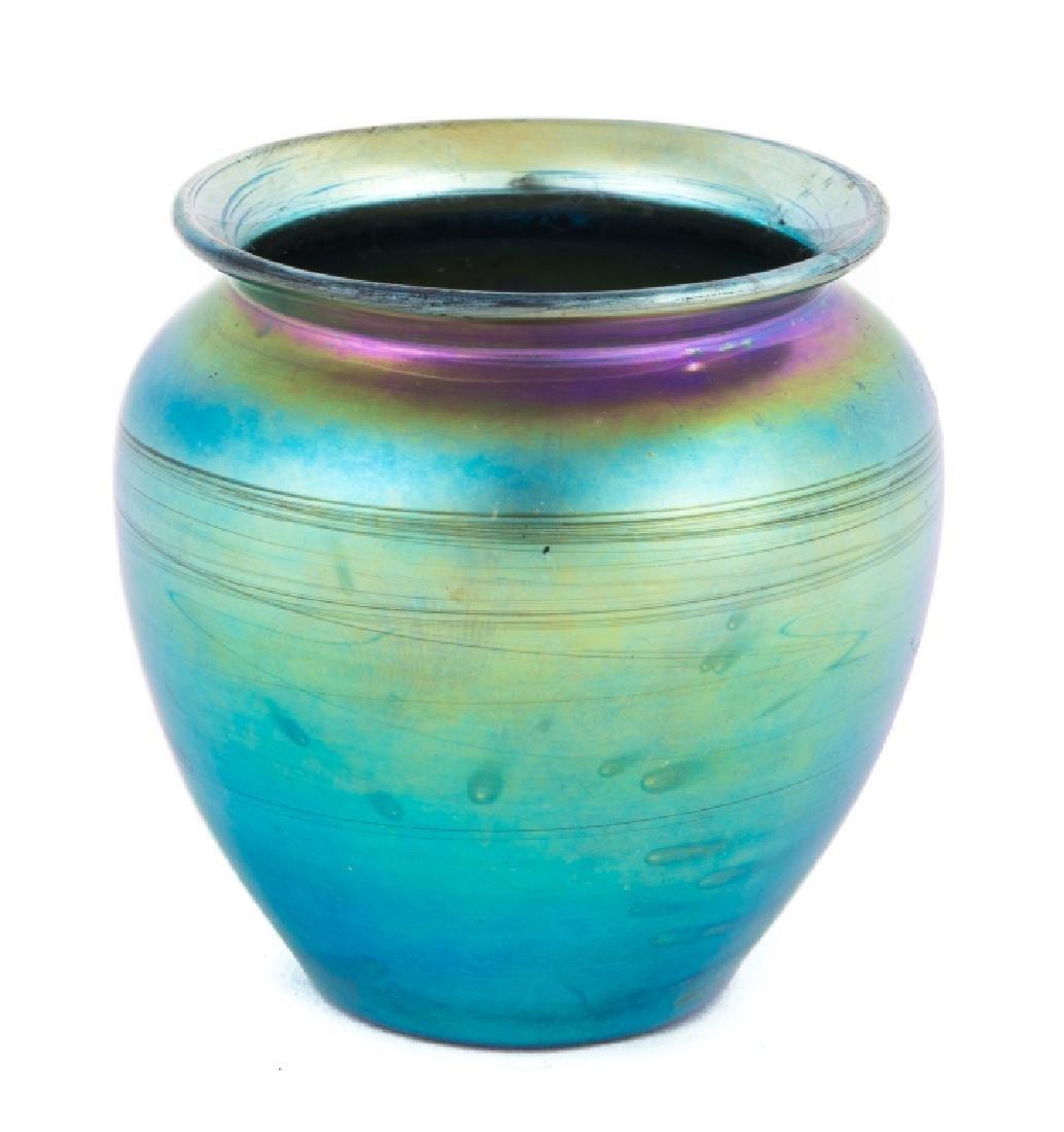 Steuben Blue Aurene Cabinet Vase
