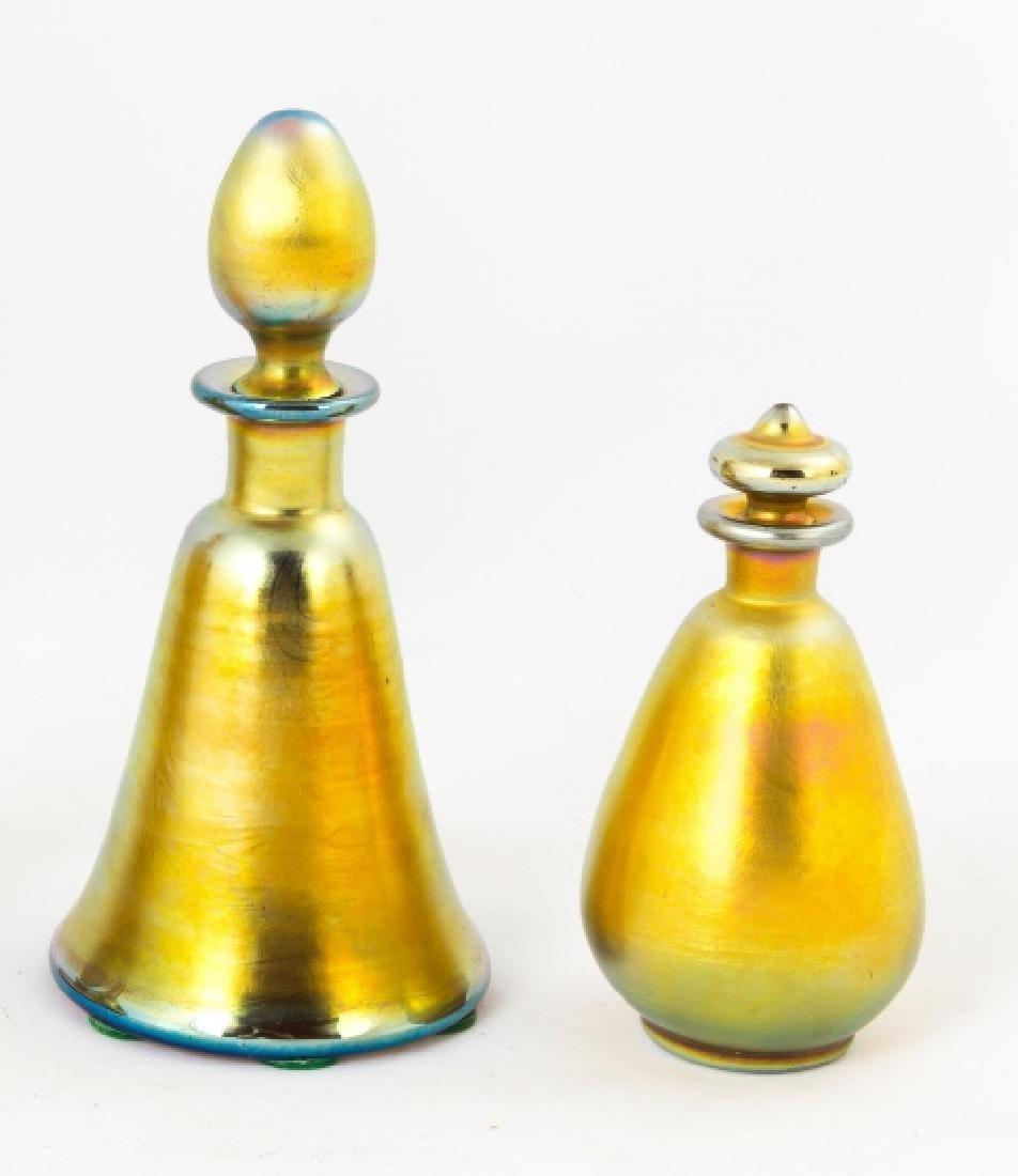 Two Steuben Gold Aurene Colognes