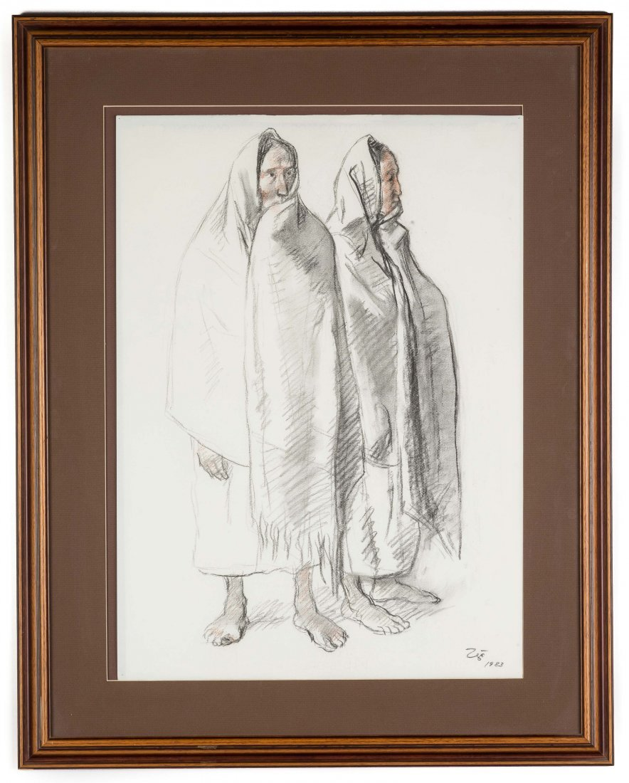 Francisco Zúñiga (Mexican, 1912-1998) Two Standing Wome