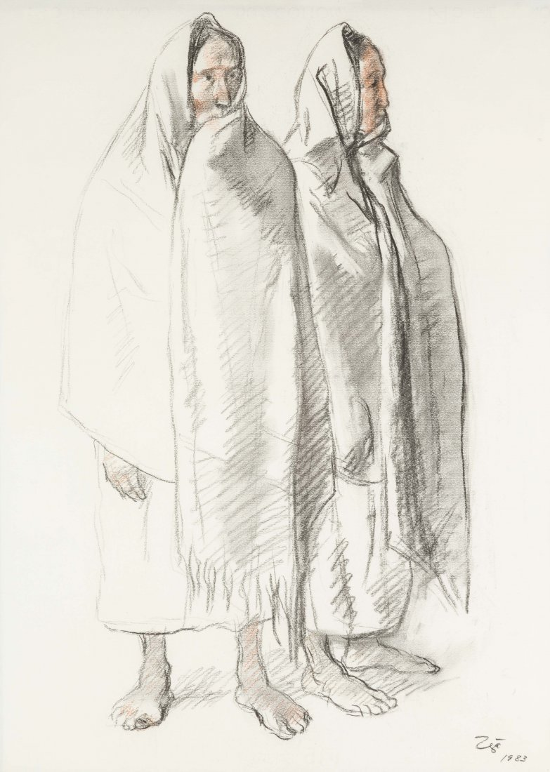 Francisco Zúñiga (Mexican, 1912-1998) Two Standing Wome - 2