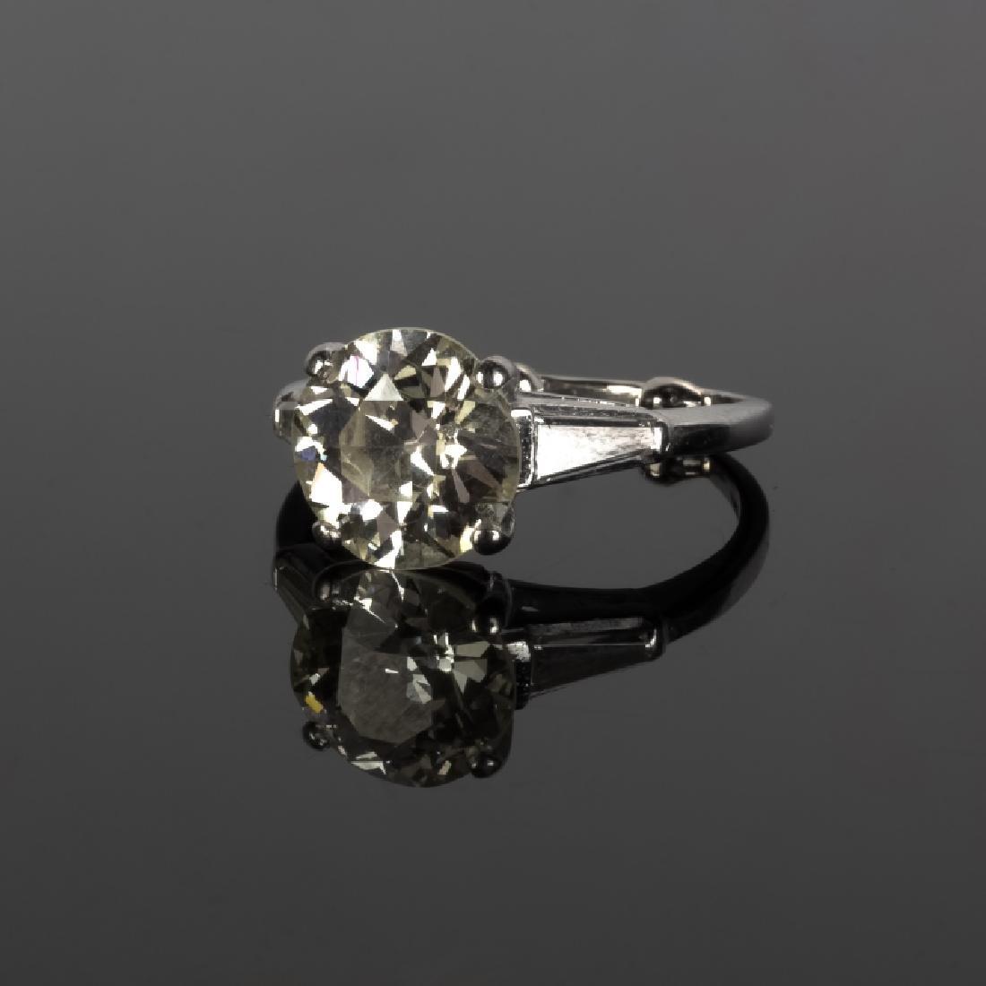 3+ ct Solitaire Diamond Ring