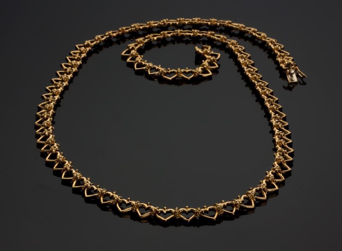 Tiffany 18K Gold Heart Necklace