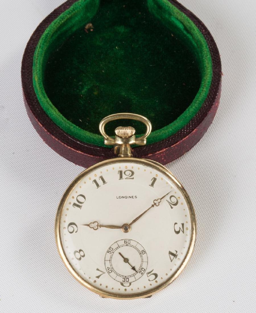 Logines 14K Gold Pocket Watch