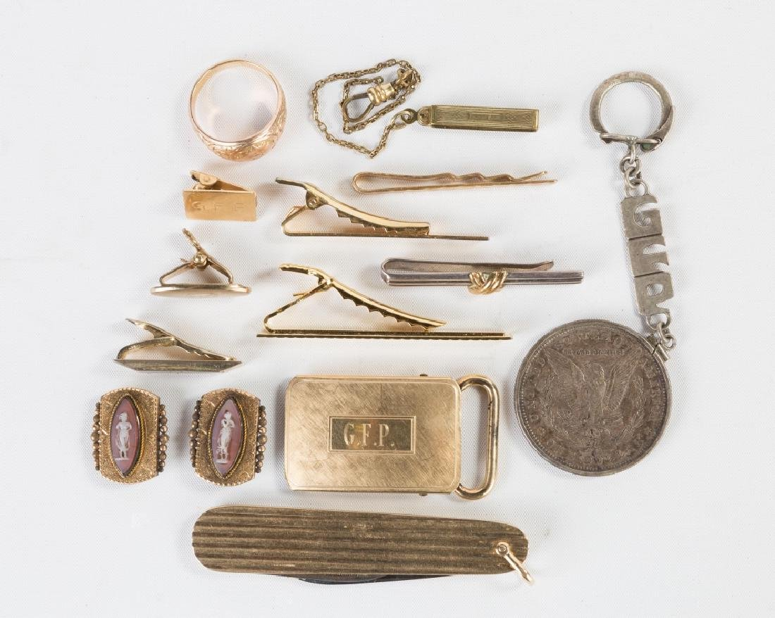 Group of Gold Accessories including Tiffany