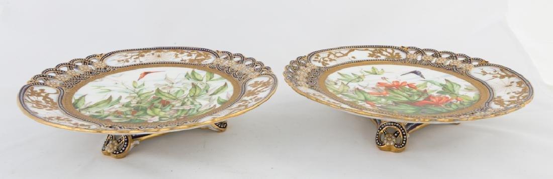 Pair of Coalport Porcelain Tazzas