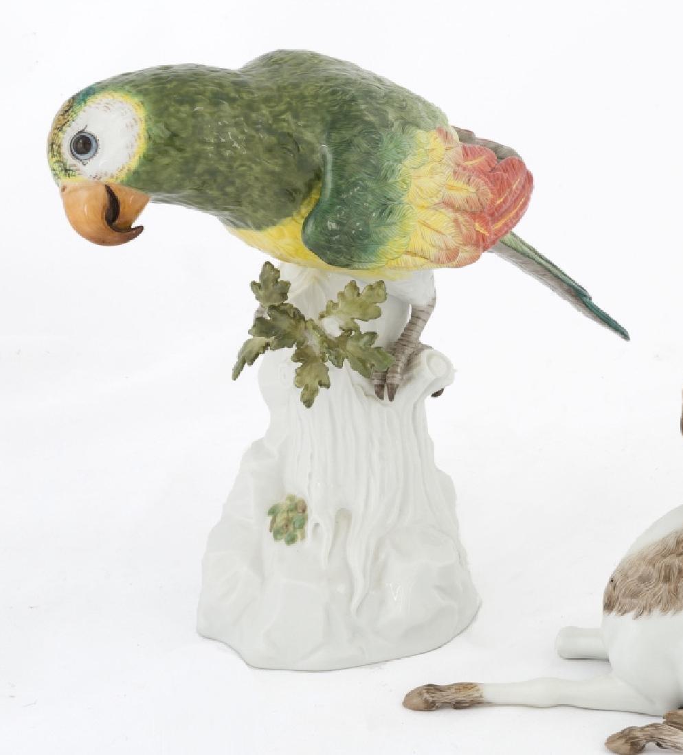 Meissen Parrot on Stump