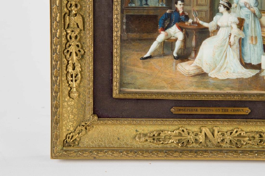 Miniature Watercolor Painting of Napoleon - 2