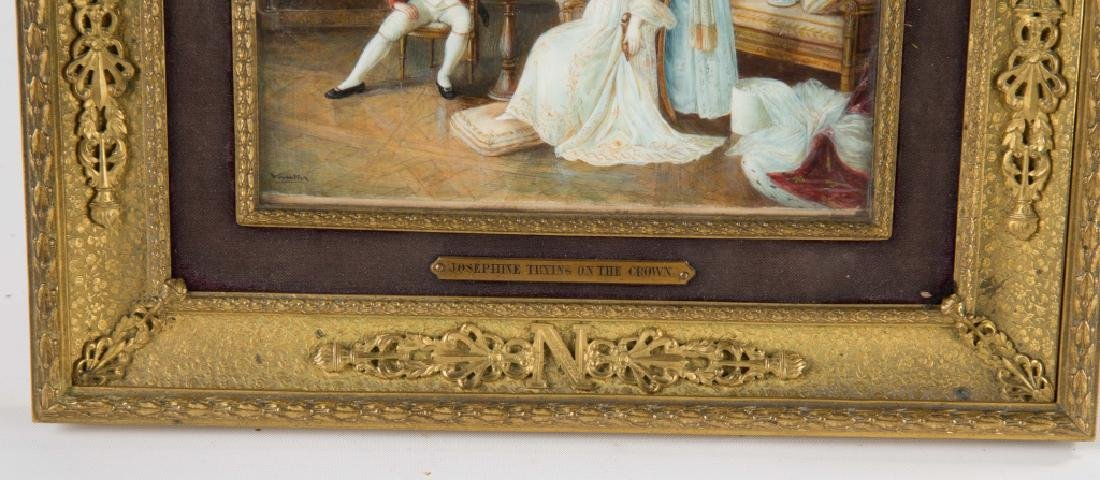 Miniature Watercolor Painting of Napoleon - 3